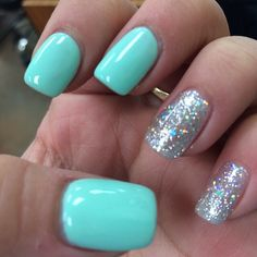 #light #pastel #colors #mintyblue #blue #iceyy #white #silver #glitter #style #gel #overlay #nail #gelish #polish #style