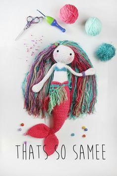 Crochet mermaid doll/toy. www.facebook.com/thatssosammy