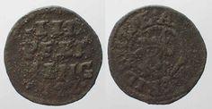 1622 Mecklenburg-Schwerin MECKLENBURG-SCHWERIN 3 Pfennig 1622 ADOLF FRIEDRICH I copper VF # 90319 ss