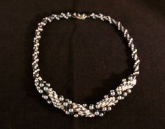 Happy Mothers Day Swarovski pearl necklace with by Violetspassions, $96.00