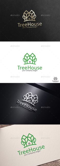 Tree House - Logo Design Template Vector #logotype Download it here: http://graphicriver.net/item/tree-house/15668418?s_rank=32?ref=nesto