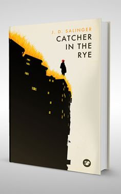 Catcher in the Rye by JD Salinger. Book Cover by Levente Szabo (From : www.shortlist.com - Contemporary Covers for Classic Books)
