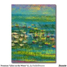 """Premium """"Lilies on the Water"""" design Postcard"""