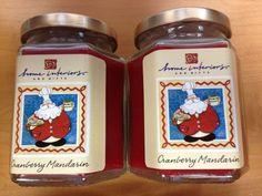 Set of 4 Home Interior Cranberry MandarinCandles 7.5 oz Each -Candles for Canine