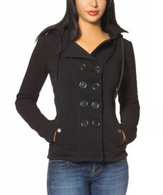 This So Nice Collection Black Double-Breasted Jacket by So Nice Collection is perfect! #zulilyfinds