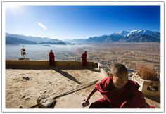 monks at tiksey monastery #travel ladakh https://ihimalayan.wordpress.com/2015/02/04/ladakh-a-visit-to-monks-and-monasteries/
