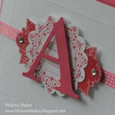 Melanie Makes: Monogrammed Note Card Portfolio - End of the Year Teacher Gift