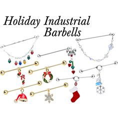 """""""Holiday Industrial Barbells"""" by bodycandy on Polyvore #bodycandy"""