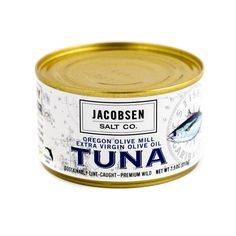 This line-caught wild tuna is hand packed in Community Supported Fishery's micro-cannery in Garibaldi, Oregon, just a few miles north of our salt production facility. Community Supported Fishery's sma