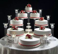 Amazing Tiered Wedding Cake Stands With Splendor Stands Are Manufactured Exclusively In The Usa By American 8 Tier Wedding Cakes, Wedding Cake Stands, Floral Wedding Cakes, Fall Wedding Cakes, Elegant Wedding Cakes, Beautiful Wedding Cakes, Wedding Cake Designs, Wedding Cupcakes, Beautiful Cakes