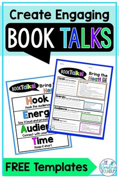 Long gone are the days of the traditional book talks. Our students are way too creative for that, so we need to give them a chance to let their creativity shine through their book talks! These FREE printable anchor charts and graphic organizers move students beyond the same old script in order to create more engaging book talks. Isn't the purpose of a book talk to spark interest and make someone want to read the book? #thereadingroundup #booktalks #teachingreading #teacherfreebie