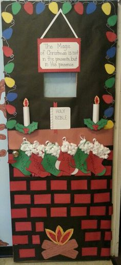 Ms. Sherri's 3's preschool class: Dec. Door