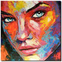 Original Gemalde Leinwand Acryl Modern Gesicht Abstrakt Bild 848