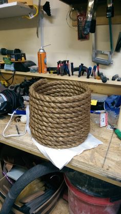 Rope basket prop DIY