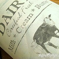 """Remember this milk can? I had it in my post """"Thrifty Finds"""" awhile bac…"""