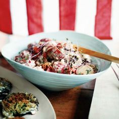 Potato Salad with Bacon and Barbecue Sauce