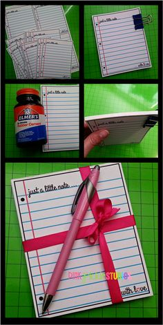 """Just a little Note"" Tear Pad Freebie and Tutorial"