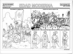 """La Edad Moderna"" (Fichas de Historia de Primaria) Teacher, Science, Activities, Education, History, School, Musical, Chocolates, Autumn"