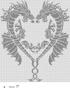 Dragons #crochet #filetcrochet #chartcrochet #dragons