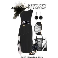"""KENTUCKY DERBY HATS"" Contest: ""It's All In Black & White!"" by enjoyzworld on Polyvore"