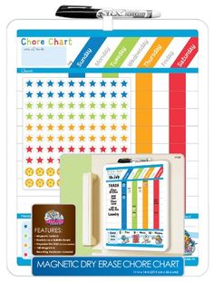 Love Board Dudes dry erase boards...great quality and buyer prices...here's a chore chart...write chores in wet erase, daily check offs in dry erase.