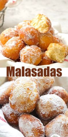 No Bake Desserts, Delicious Desserts, Dessert Recipes, Yummy Food, Easy Malasadas Recipe, Food Videos, Recipe Videos, Baking Recipes, Baking Ideas