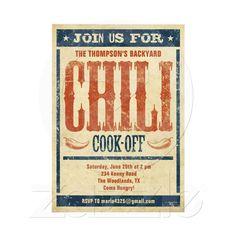 Chili Cook Off Invitations from Zazzle.com