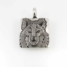 Sterling Silver Wolf Pendant 988i by TheSilverPendant on Etsy