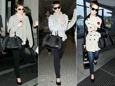 Emma Watson Rocks Burberry in Studs Burberry Tote, Burberry Prorsum, Burberry Handbags, Photo Emma Watson, Emma Watson Style, Fashion Watches, Fashion Bags, Beautiful Handbags, Brown Bags