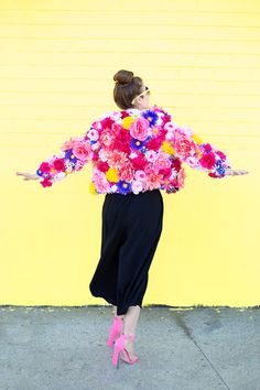 DIY Faux Flower Coat | studiodiy.com