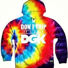 It's trippy mane, new #DGK is in stores now! #DGKallday #tiedye #hoody