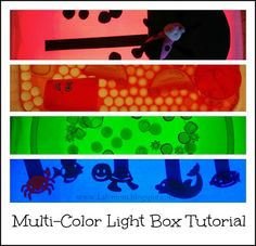 LalyMom Kids Crafts and Activities: Pimp My Light Box! {Multi Colored Light Box Tutorial}
