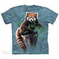 Camiseta Adulto Panda Rojo
