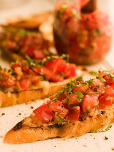 Tomato Basil Bruschetta - Chef Michael Smith