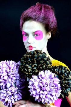 VJ Von Art photography & art, Flower Queen 2013 #Photograph by VJ Von Art  #art #fashion #costumeart #vogue #theatermakeup