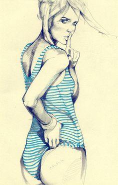 fashion illustration by Alina Grinpauka #illustration #painting #drawing