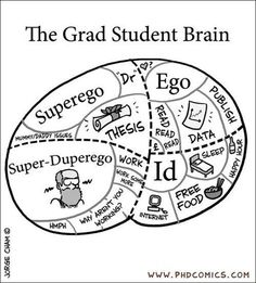 phrenology/Freud grad student brain (I agree.but I don't have an ego that big) Psychology Humor, School Psychology, Psychology Programs, Psychology Today, Phd Student, Student Life, Grad School Problems, Phd Humor, Work Humor