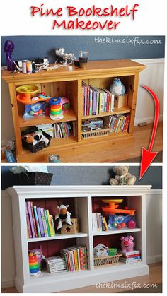 the kim six fix painting a pine bookshelf