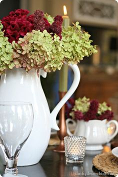 DIY- Simple Autumn Tablescape ! by Thrifty Decor Chick: