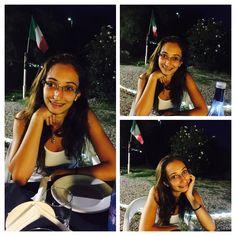 Mia nipote Ninne a #gallicomarina presso #ristorantelamadonnina