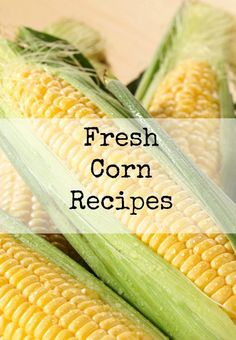 Fresh Corn Recipes | Using the Garden Veggies