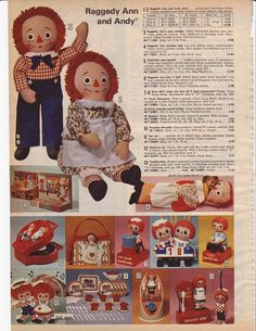 Raggedy Ann and Andy from the – Remembering the My Childhood Memories, Childhood Toys, Sweet Memories, Christmas Past, Vintage Christmas, Raggedy Ann And Andy, 80s Kids, Retro Kids, Catalogue