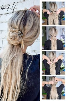 Instructions coiffure simple – All About Hairstyles Very Easy Hairstyles, Open Hairstyles, Casual Hairstyles, Everyday Hairstyles, Vintage Hairstyles, Summer Hairstyles, Braided Hairstyles, Wedding Hairstyles, Step Hairstyle
