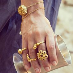 ♛ Pippa Small gold bracelets and rings - trunk show @ WHITE bIRD Jewellery 25th of June - 6th of July 2013