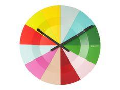 Colorful Slices-seinäkello - OmaShop