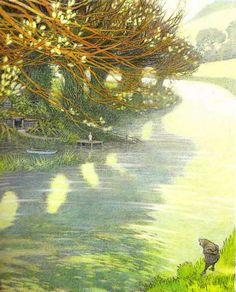 Illustration for The Wind in the Willows by Inga Moore . A visit to the Wind in the Willows Museum in Henley-on-Thames is a must Children's Book Illustration, Book Illustrations, Watercolor Illustration, Artist Profile, Art Graphique, Book Images, Book Art, Kenneth Grahame, Drawings