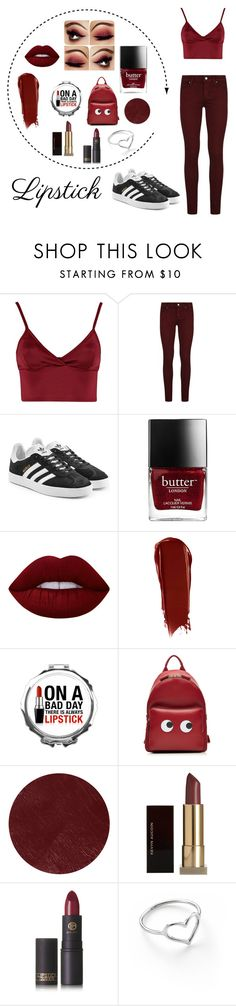 """""""Untitled #68"""" by tonilovesfashion ❤ liked on Polyvore featuring beauty, Lipsy, Paige Denim, adidas Originals, Lime Crime, NARS Cosmetics, Anya Hindmarch, Burberry, Kevyn Aucoin and Lipstick Queen"""