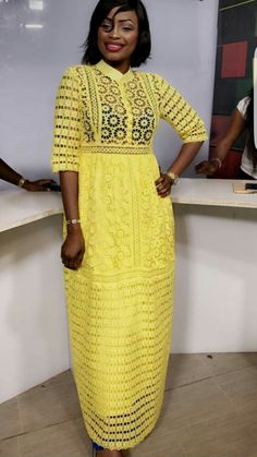 Stylish Ankara Styles For Ladies - Naija Info African Print Dresses, African Fashion Dresses, African Dress, African Attire, African Wear, African Women, Ankara Stil, Yellow Maxi Dress, Ankara Dress