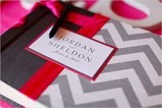 chevron striped guestbook