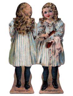 Vintage Kids Printable - Mini Paper Dolls - The Graphics Fairy